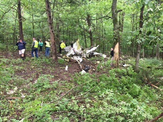 A small airplane crashed in Christian County on Friday