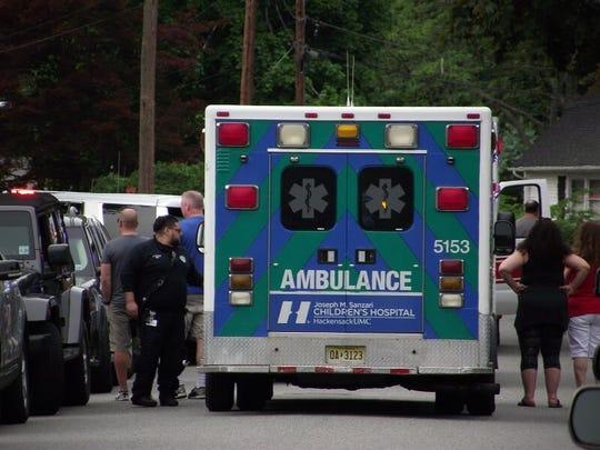 Hackensack University Medical Center ambulance.
