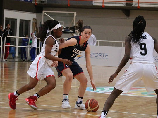 Dowling's Caitlin Clark competed with the women's U16 national team at the 2017 FIBA Americas Championship in Argentina from June 7-11.