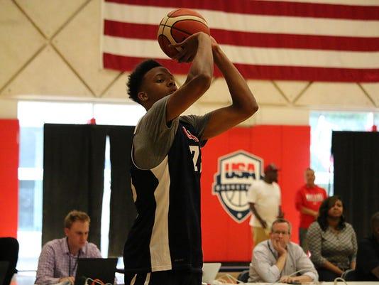Romeo Langford at Team USA training camp