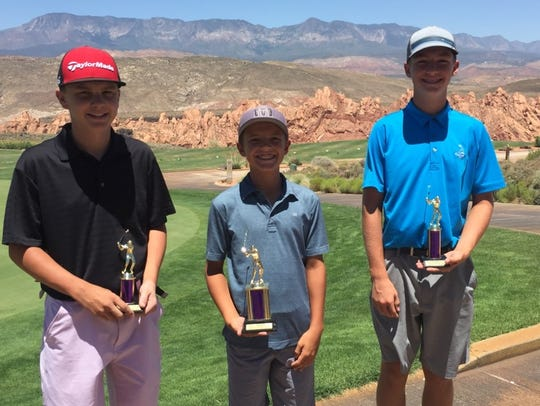 Boston Bracken (center), Cooper Milne (right) and Kyler