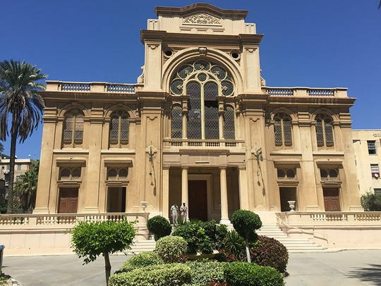 Exterior of Prophet Elijah Synagogue in Alexandria,