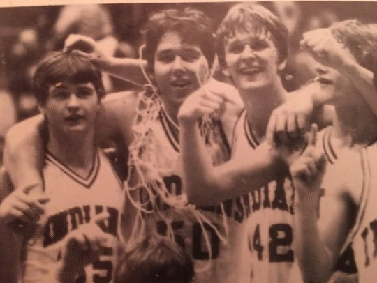 Members of the 1982 Lawrenceville High School boys'