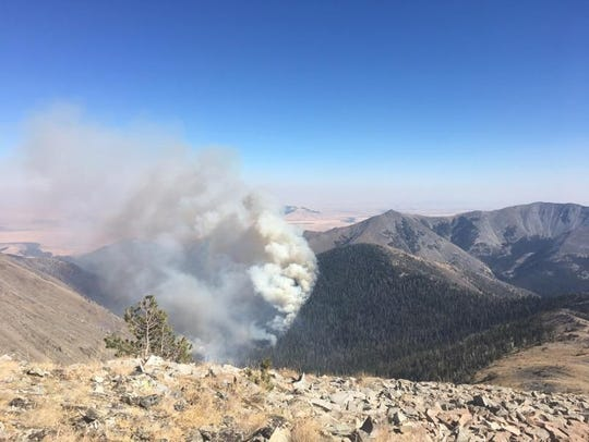 The Blacktail fire is burning in the Crazy Mountains