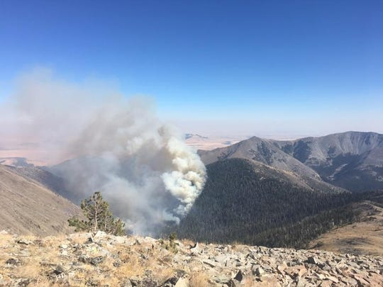 The Blacktail fire is burning in the Crazy Mountains south of Two Dot in Meagher County.