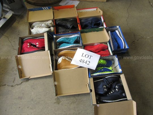 Shoes seized from a man convicted of possessing a significant