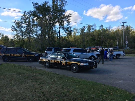 Four people were arrested on suspicion of trafficking in drugs during a traffic stop in Crawford County on Thursday, Sept. 28, 2017.