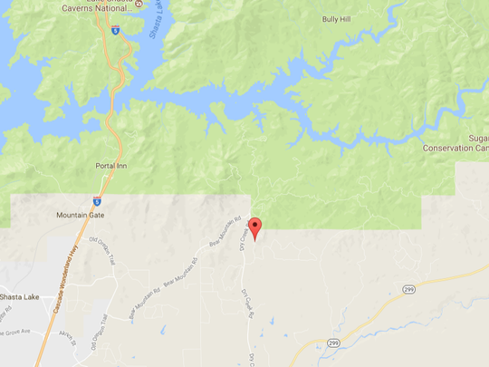 A fire is burning northeast of Redding in the area of Jones Valley.