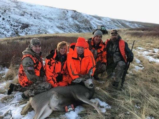 Douglas Wenzel bagged a buck on the McKamey Ranch on