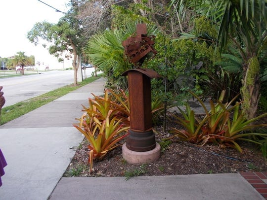 This is one of Mia Lindberg's outdoor sculptures.