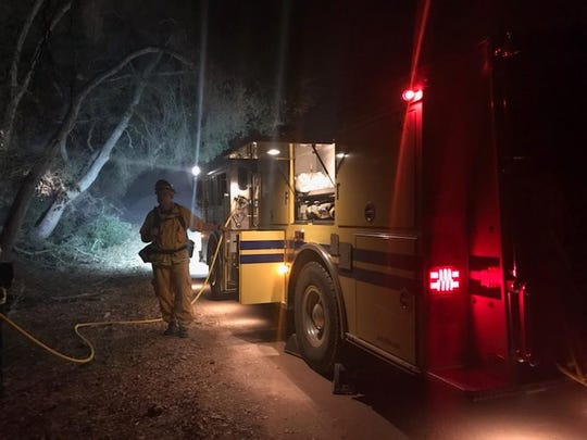 Four officials from Keizer Fire District responded