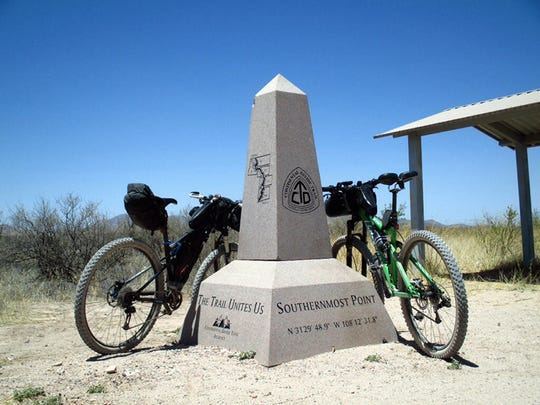 A monument at the southernmost point of the Continental Divide National Scenic Trail stands ready to welcome all adventurers who challenge the 'King of Trails'.