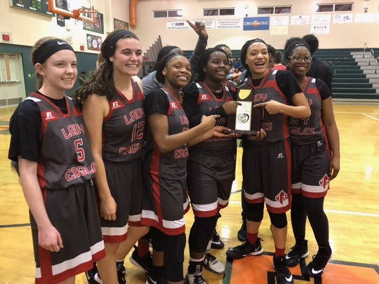 The North Florida Christian girls basketball team beat FAMU DRS 66-62 on Friday night for a District 1-3A title.