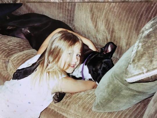 Tessa Neumann when she was 9 years old, around the