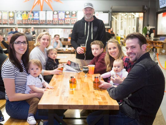 This photo was used in Sun King's Facebook post announcing that the Downtown taproom was now kid-friendly.