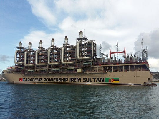 The Irem Sultan, a floating power plant owned by Karpowership.