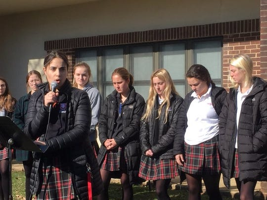 """Bless those who have survived and heal their memories."" Ursuline Academy walkout concludes."