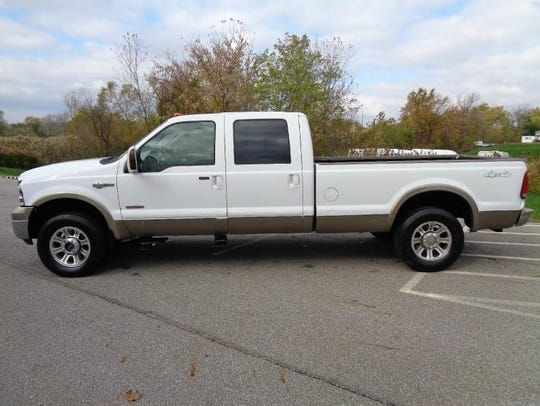 A vehicle similar to this Ford King Ranch pickup truck