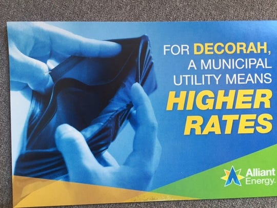 Alliant Energy is sending postcards to Decorah residents,