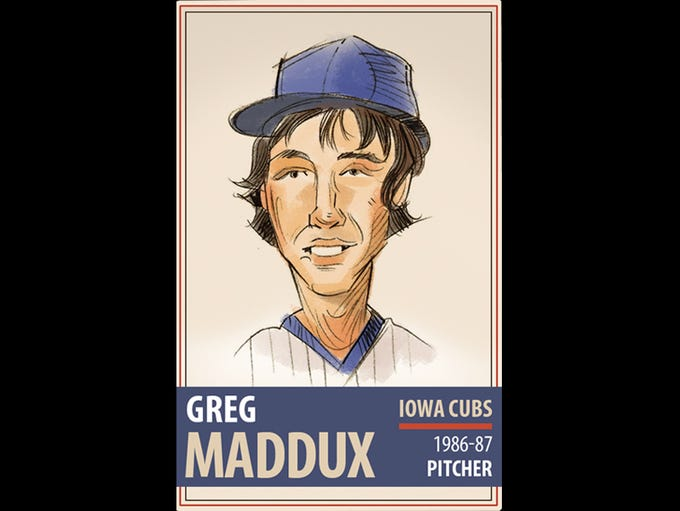 Greg Maddux went 13-1 in 22 appearances with the Iowa