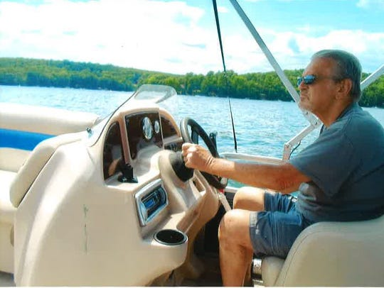 Peter Huber enjoyed spending time out on his boat.