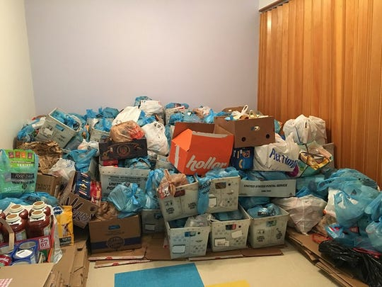 The food donated to the Windosr Food Bank during the