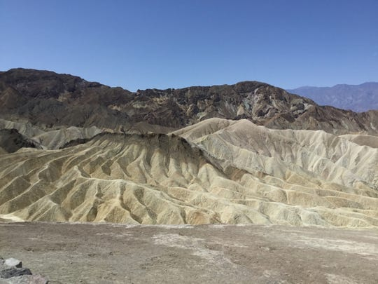 Mountains and hills in Death Valley, CA