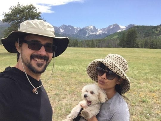 Steve and Nina Davis and Monty visit Rocky Mountain National Park in Colorado.