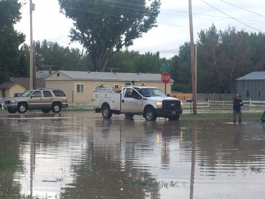 Floodwaters in Sun River reached Highway 200 by Tuesday
