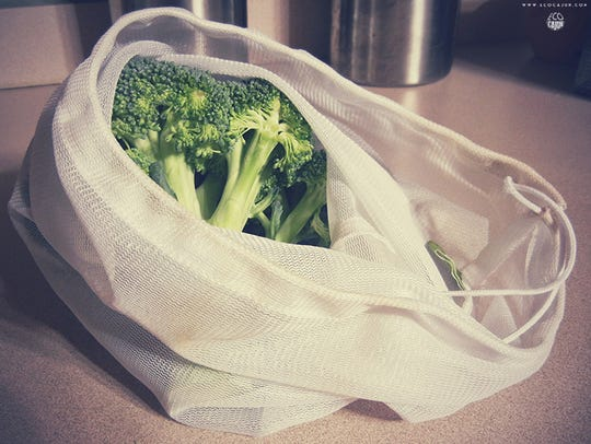 Avoid single use produce bags by bringing mesh bags