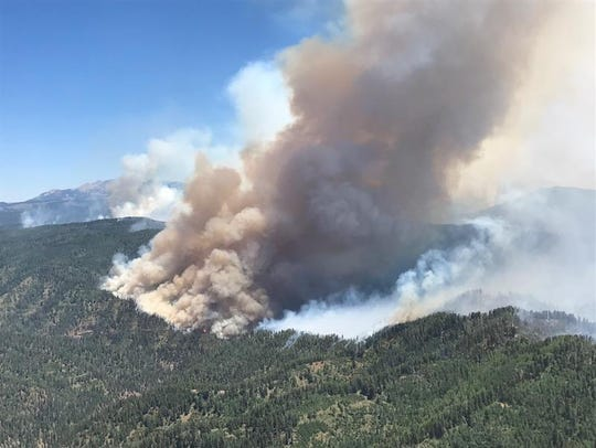 The 416 Fire, shown here burning in the Hermosa Creek