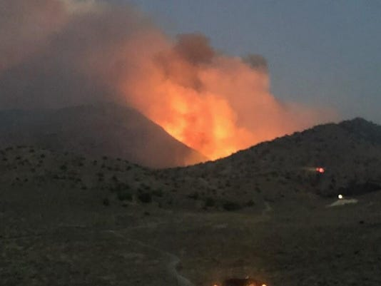 Perry Fire near Pyramid Lake