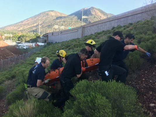 Flagstaff Fire Department rescue storm drain