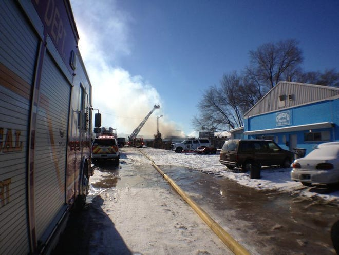 Indianapolis fire crews are on the scene of a two-alarm fire on the city's Near Eastside.