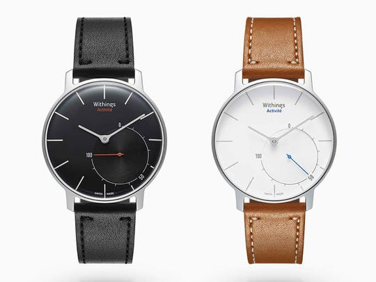 The Withings Activité watch($450) is waterproof, tracks