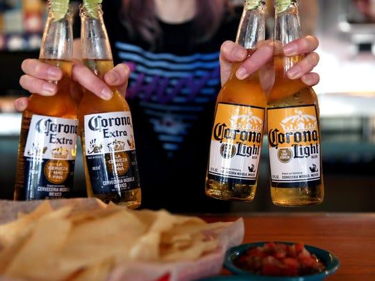 Corona and Corona Light are specials during Chuy's Cinco De Mayo celebration.