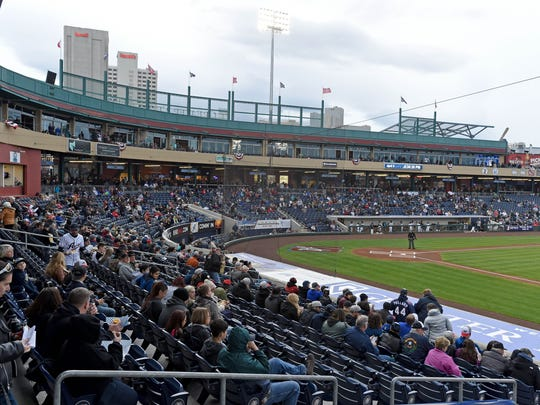 The Reno Aces' opening day at Greater Nevada Field on April 5, 2018.