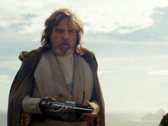 Mark Hamill reprises the role of Luke Skywalker in