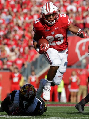 The Badgers will be looking for a big game against Michigan from freshman tailback Jonathan Taylor.