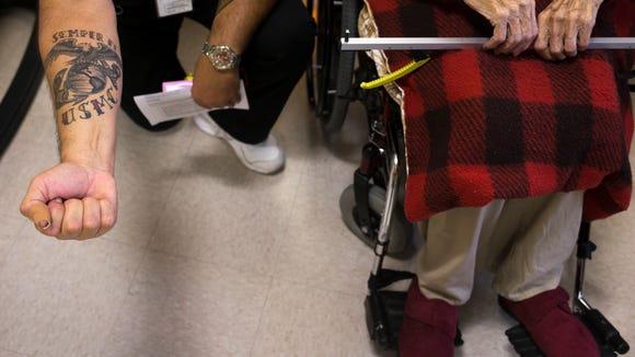 Marine Joseph Leal, a nurse at the VA hospital in Prescott,