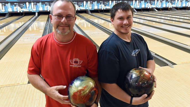 Father and son Cory and Treg Smart both had a strong showing during the Monday Business play at Park Lanes Bowling Center on Nov. 6. Treg bowled a 300 game and an 849 series while his father Cory bowled a 300 game and a 796 series.