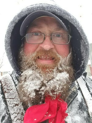 What a record-cold February in Miles City, Mont., looks like -- notice the snow-encrusted beard.