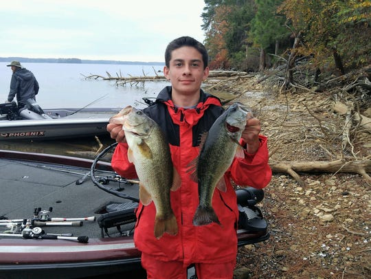 Hunter White finished fifth in The Bass Federation