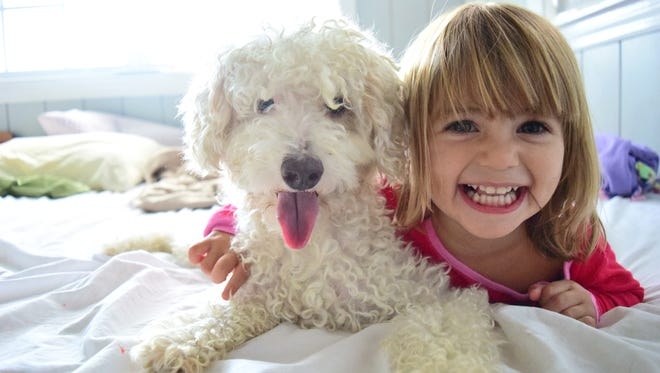 Dogs show children how to slow down and enjoy the simple things