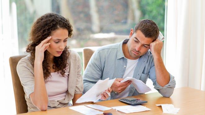 A couple address their finances.