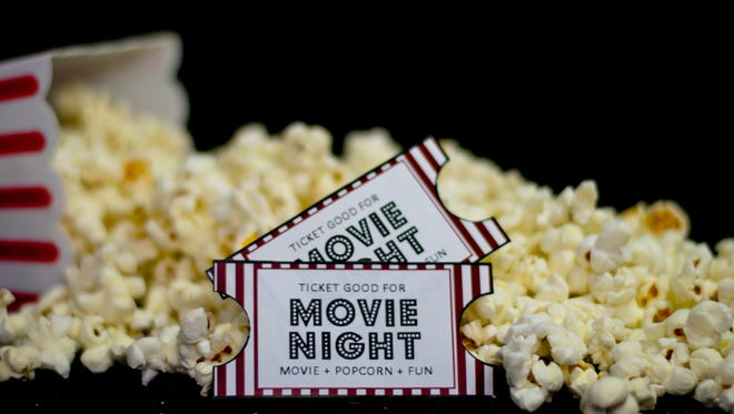 Tickets and popcorn for your generic movie night!