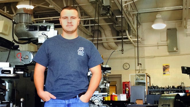 Austin Parker, formerly a home schooled student, found his career path in machining after exploring opportunities at Pickaway-Ross Career & Technology Center. With perfect attendance and a job placement with Tosoh in Grove City that he has already begun, he presented a speech as Pickaway-Ross' Student of the Year during Thursday's completion ceremonies.