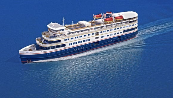 M.S. St. Laurent, the newest cruise ship on the Great