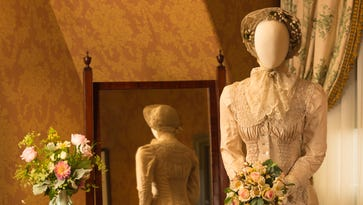 """The wedding gown from """"Emma"""" is part of the """"Fashionable Romance"""" exhibit at Biltmore."""