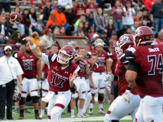 NMSU quarterback Tyler Rogers led a game-winning drive against South Alabama that secured a bowl game for the Aggies.